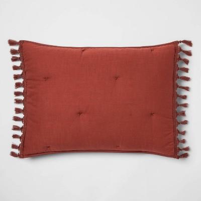 King Macrame' Tassel Tufted Sham Red Rust - Opalhouse™