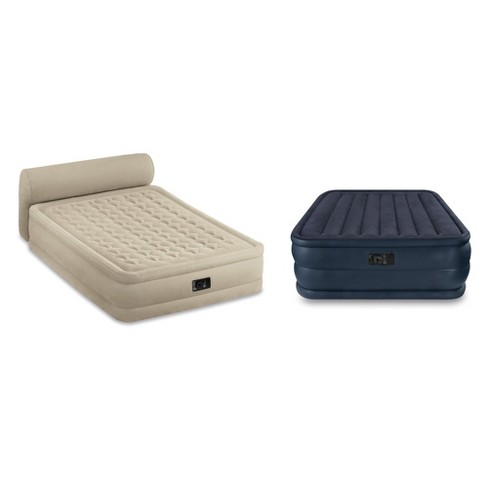 Intex Queen Ultra Plush Airbed With Headboard Queen Airbed With