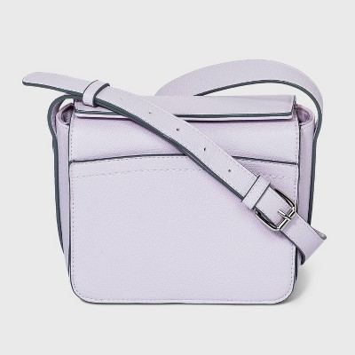 Magnetic Closure Boxy Square Crossbody Bag - A New Day™ Lilac