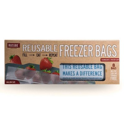 Russbe Reusable Freezer Bags - 8ct