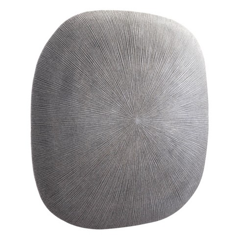 """ZM Home 29"""" Textured Square Wall Sculpture Light Gray - image 1 of 4"""
