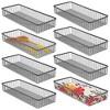 "mDesign Metal Kitchen Cabinet Drawer Organizer Tray, 15"" Long - 8 Pack - image 2 of 4"