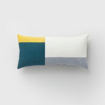Lumbar Color Block Outdoor Pillow Teal - Project 62™