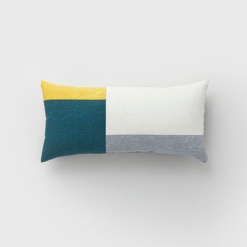 Lumbar Color Block Outdoor Pillow Teal  - Project 62™ - image 1 of 1