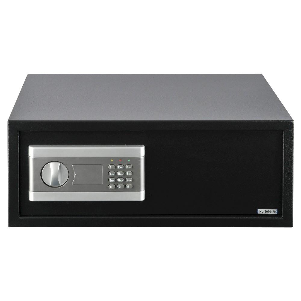 Image of Stalwart Electronic Large Digital Steel Safe for Laptop, Black