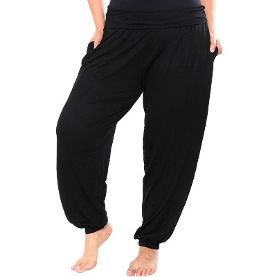 Women's Plus Size Harem Pants - White Mark