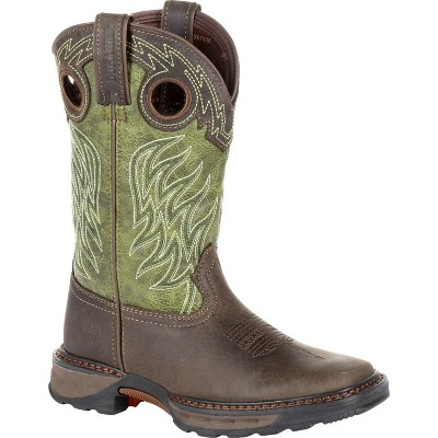 Lil' Durango Maverick XP Boys' Green Western Work Boot