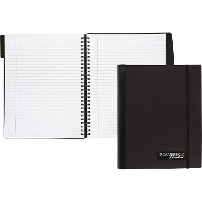 Cambridge Accents Business Notebook 9 1/2 x 6 7/8 100 Sheets Black 59054