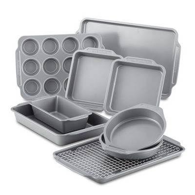 Farberware 10pc Nonstick Bakeware Set Gray