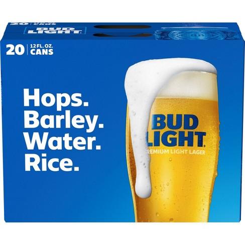 Bud Light Beer - 20pk/12 fl oz Cans - image 1 of 1