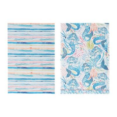 C&F Home Mermaid Garden Kitchen Towel Set of 2