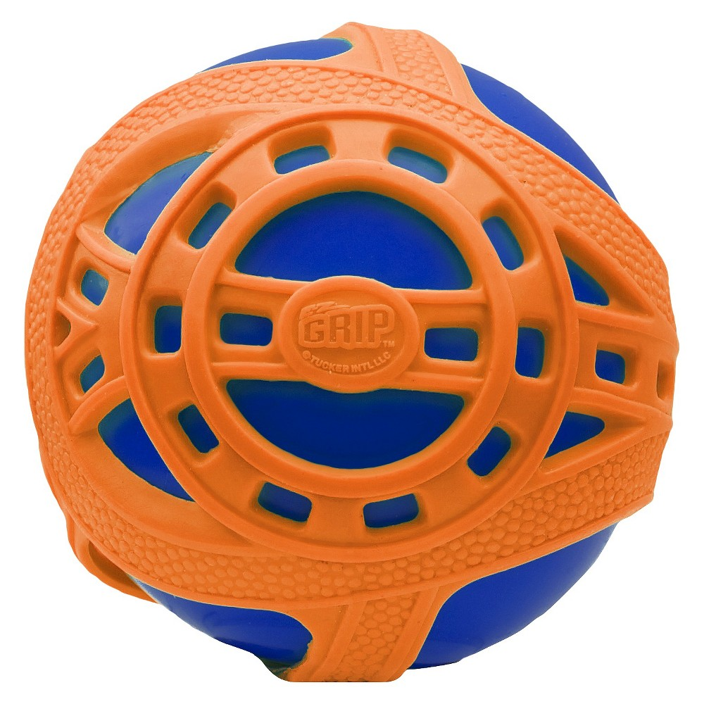 Tucker Toys Hand Ball Blue Mesmerizing Orange High-bounce and a super grip is what you can expect with Tucker Toys Sports Ball - Tucker Toys. This toy is not only soft and durable, it is especially designed with an inflatable inner ball and a tough outer webbed layer for an amazing grip that aids in catching and throwing. Color: Blue.