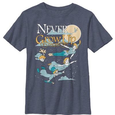 Boy's Peter Pan Never Grow Up T-Shirt