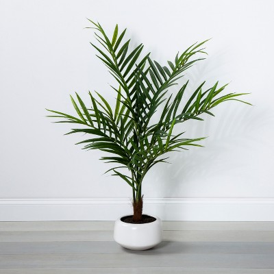 45  x 30  Artificial Palm In Pot Green/White - Opalhouse™