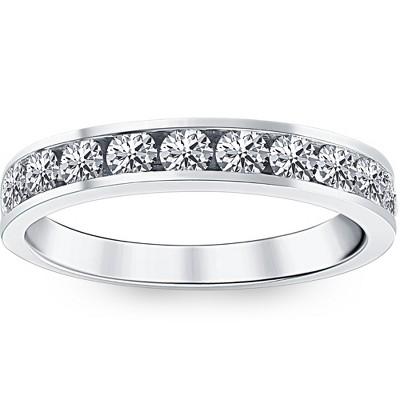 Pompeii3 1ct Diamond Wedding Ring 14K White Gold
