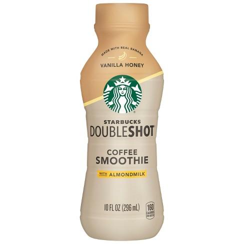 Starbucks Double Shot Vanilla Honey With Real Banana Coffee Smoothie With Almondmilk 10 Fl Oz Bottle