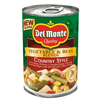Canned Vegetables: Del Monte Vegetable & Bean Blends