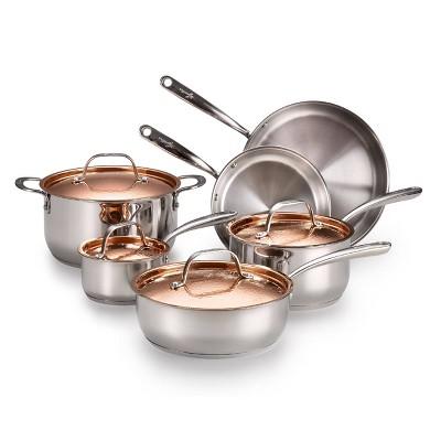Lagostina Copper Elegance 10pc Cookware Set