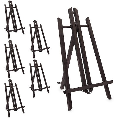 Bright Creations 6 Pack Small Wood Art Easel Stand for Tabletop Display, Adjustable and Foldable (13.5 in)