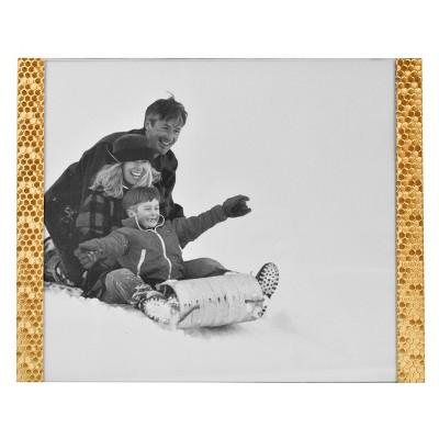 8 x10  Honeycomb Stamped Aluminium Frame Brass - Threshold™