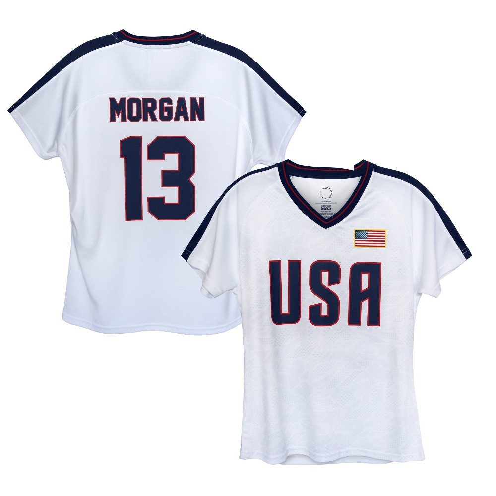 United States Soccer Federation 2020 Girls 39 Alex Morgan White Jersey S