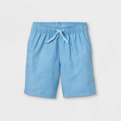 Boys' Solid Swim Shorts - Cat & Jack™ Light Blue