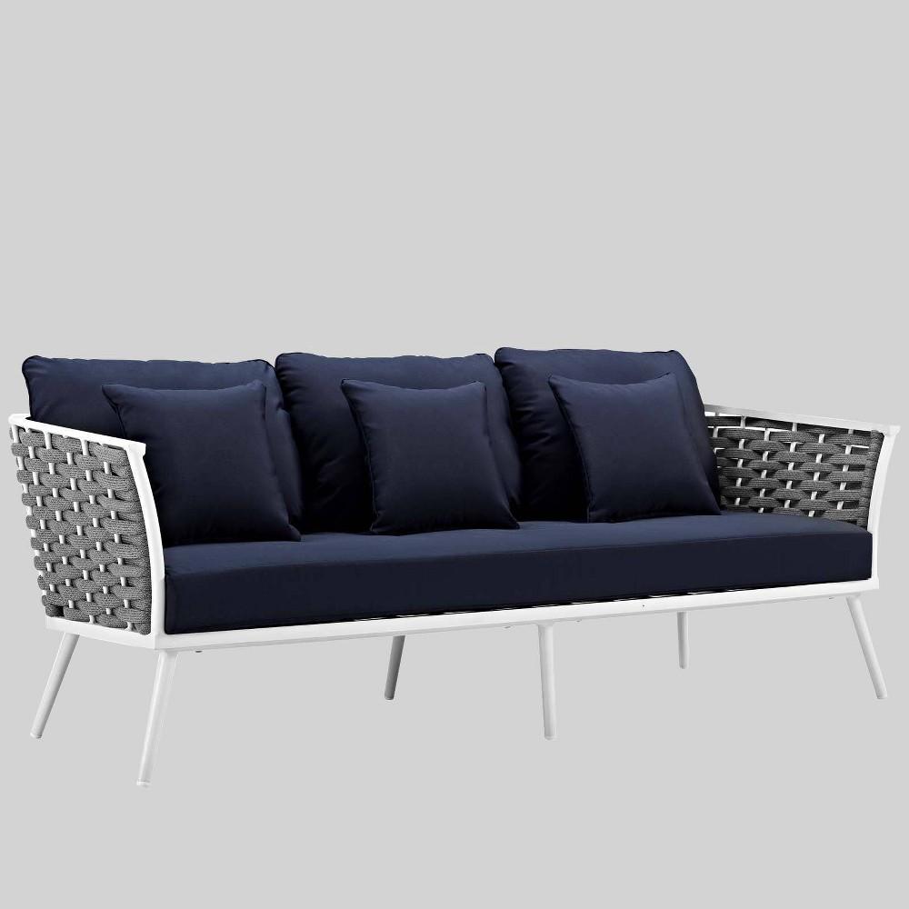 Stance Outdoor Aluminum Patio Sofa Modway