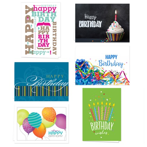 36ct Canopy Street Eclectic Birthday Note Card - image 1 of 1
