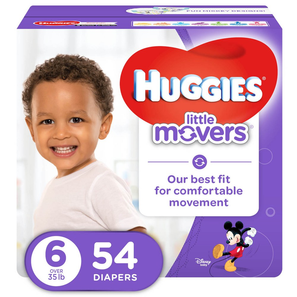 Huggies Little Movers Diapers - Size 6 (54ct)
