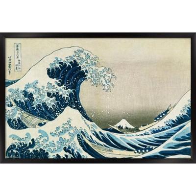 The Great Wave Framed Poster Trends International