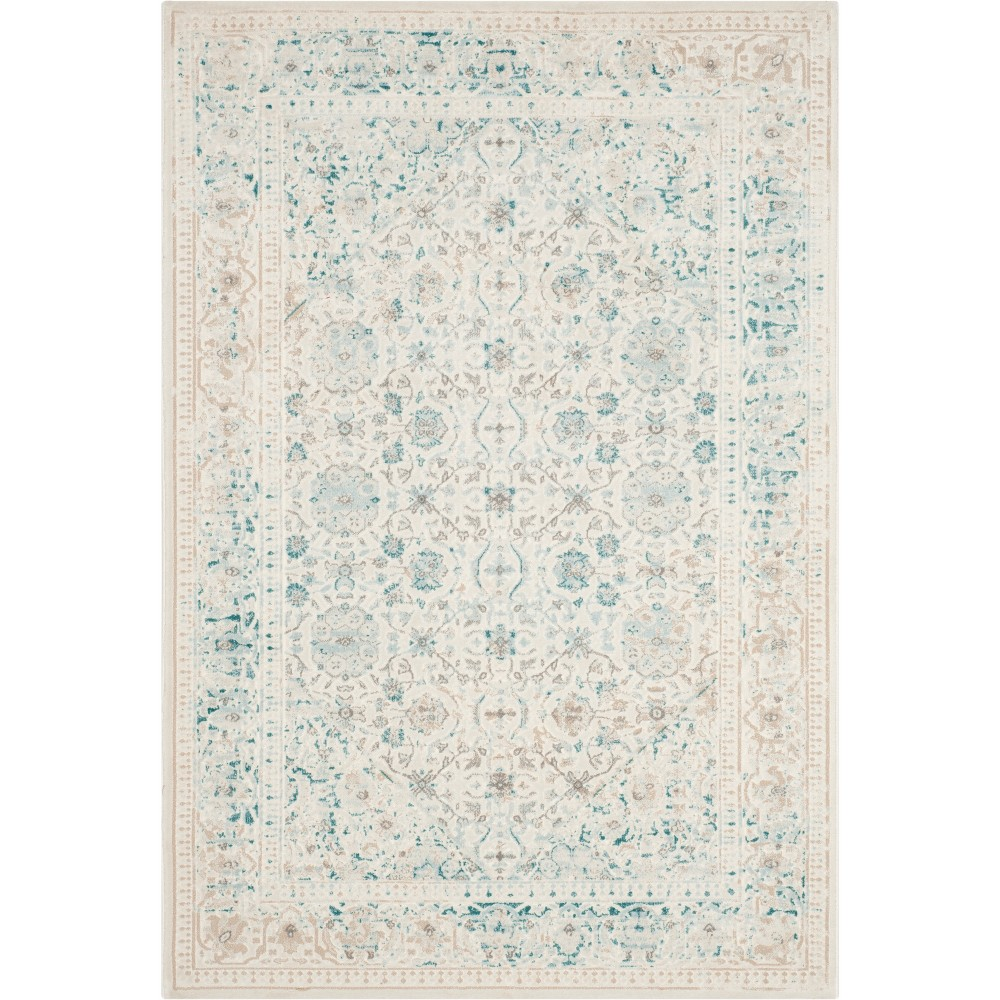 3 X5 Medallion Loomed Accent Rug Turquoise Ivory Safavieh