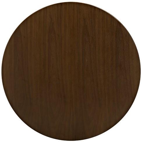 Lippa 36 Round Walnut Dining Table With Tripod Base Walnut Modway