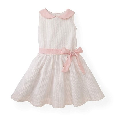 Hope & Henry Girls' Peter Pan Collar Seersucker Dress, Infant
