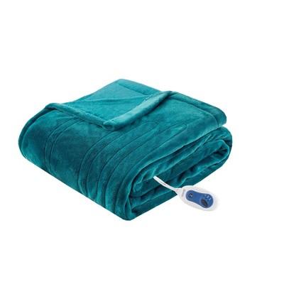 "60""x70"" Electric Plush Throw Blanket - Beautyrest"
