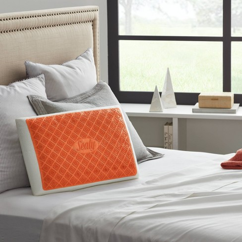 Standard Copper Infused Gel Bed Pillow Sealy Target