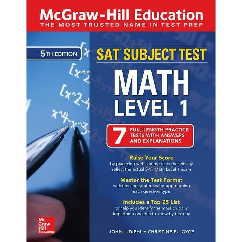 McGraw-Hill Education SAT Subject Test Math Level 1, Fifth Edition - 5  Edition by John J Diehl