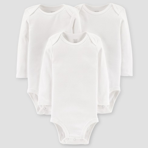 Baby 3pk Long Sleeve Bodysuit - Just One You® made by carter's White - image 1 of 1