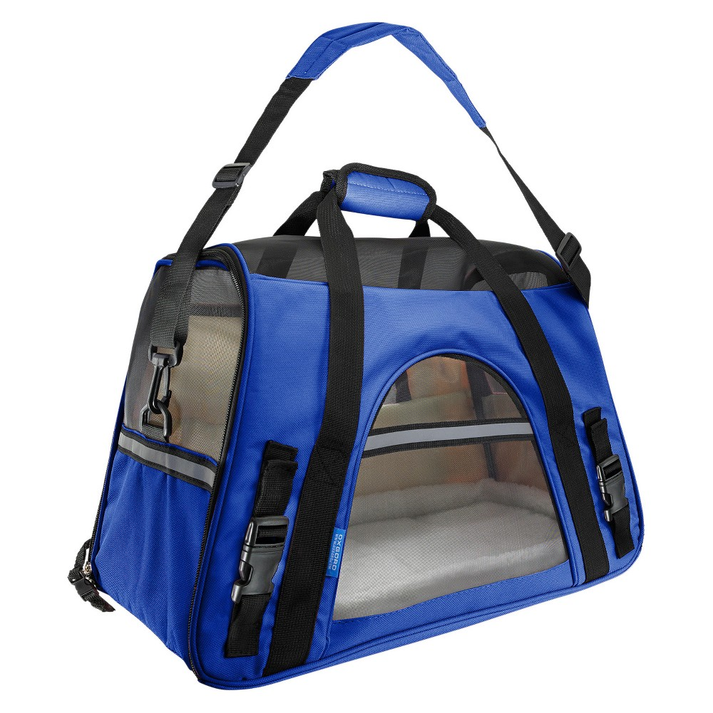Paws & Pals Soft-Sided Pet Carrier - Dark Blue - Small