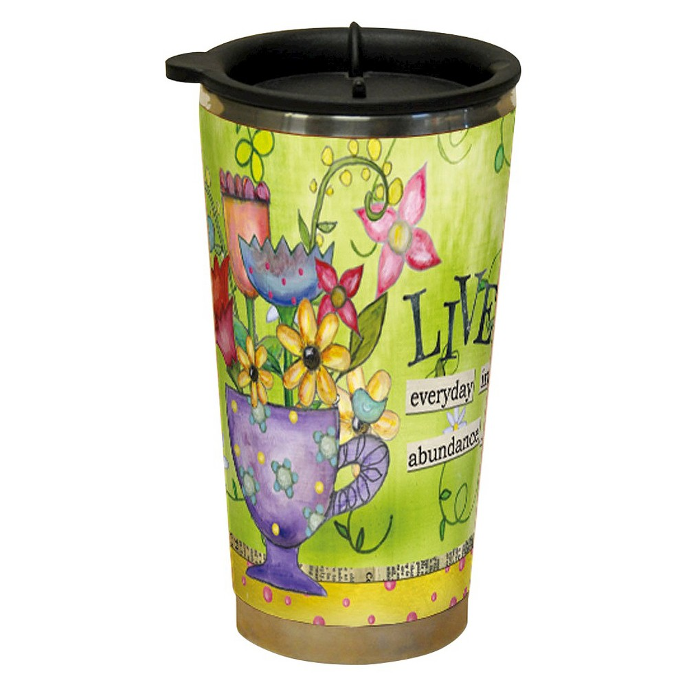 Image of Lang Plastic Color My World Live Traveler Mug 16 oz, Multi-Colored