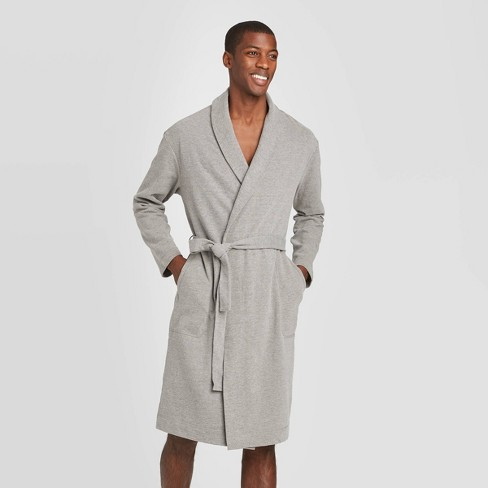 Men's French Terry Robe - Goodfellow & Co™ Gray - image 1 of 2
