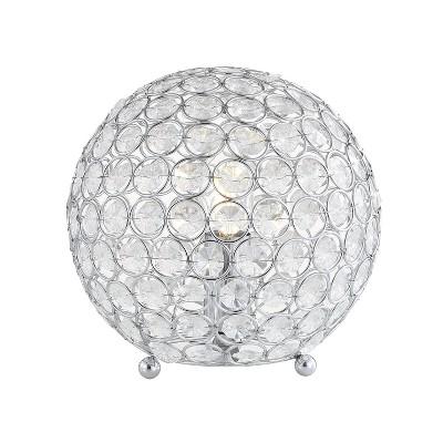 "8.25"" Gemma Acrylic/Metal LED Table Lamp Clear (Includes Energy Efficient Light Bulb) - JONATHAN Y"