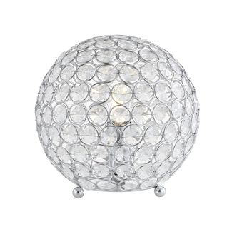 "8.25"" Gemma Acrylic/Metal LED Table Lamp Clear (Includes Energy Efficient Light Bulb) - JONATHAN Y"