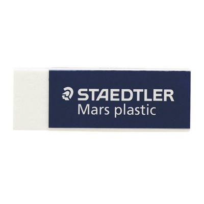 "Staedtler Plastic Eraser Latex-free 2-1/2""x7/8""x1/2"" 4/PK WE 52650BK4"