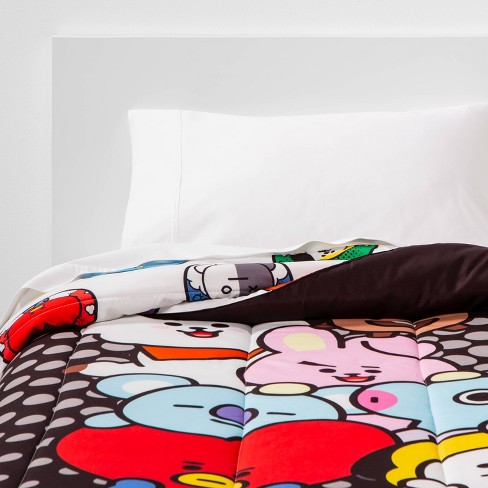 Twin Line Friends BT21 Pyramid Reversible Comforter - image 1 of 4