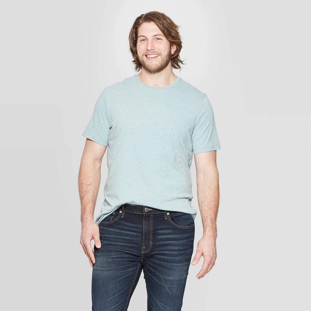 Men's Tall Standard Fit Short Sleeve Lyndale Crew Neck T-Shirt - Goodfellow & Co West Coast Green MT was $8.0 now $5.0 (38.0% off)