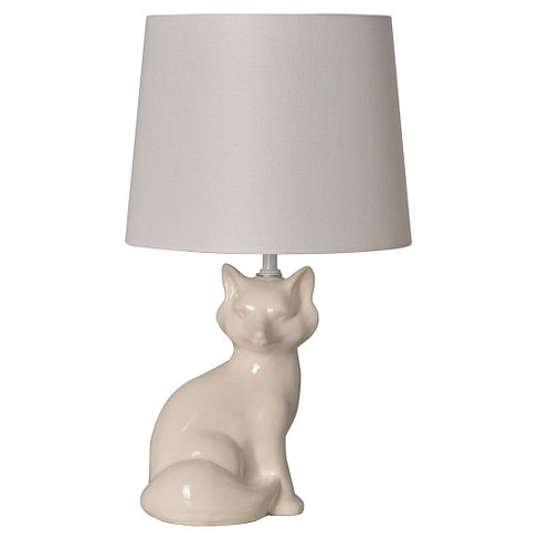 Fox Table Lamp White - Pillowfort™ - image 1 of 2
