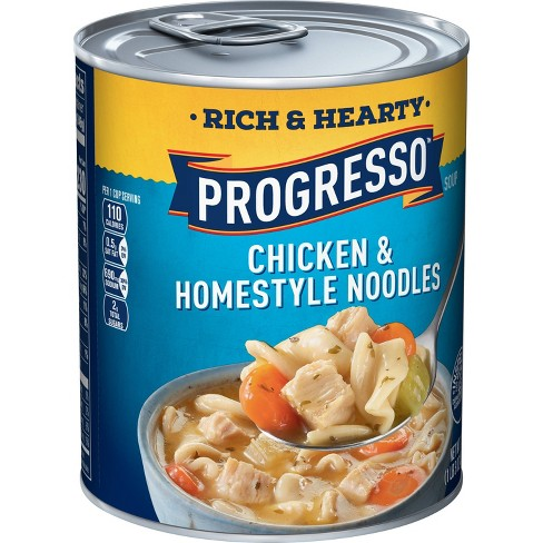 Progresso Rich & Hearty Chicken & Homestyle Noodle Soup 19oz - image 1 of 4