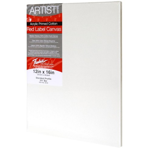 Fredrix Artist Series Stretched Canvas, 12 x 16 in, White - image 1 of 1