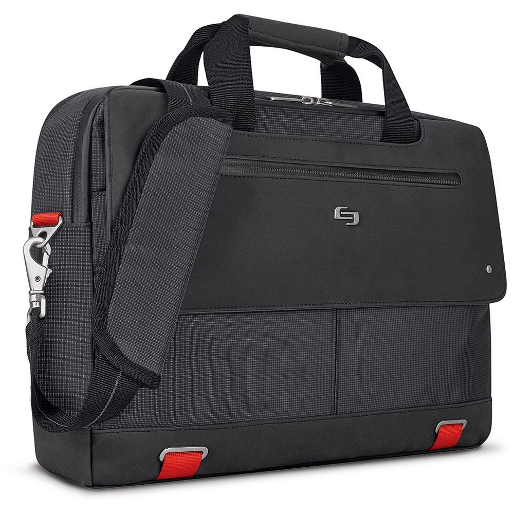 "Image of ""Solo Mission 15.6"""" RFID Briefcase - Black"""