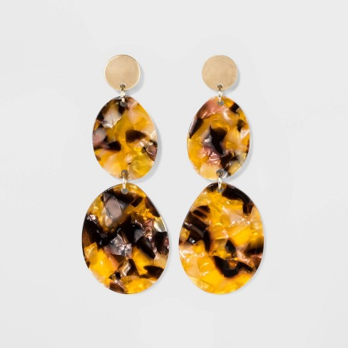 Matte Discs & Acetate Discs Earrings - A New Day™ Gold - image 1 of 3
